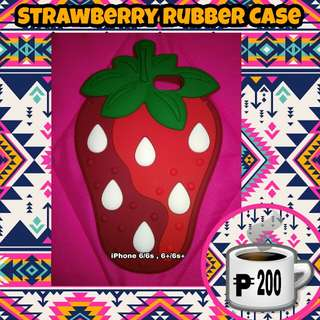iPhone 6/6s 6+/6s+ Strawberry Rubber Case