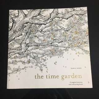 The time garden coloring book