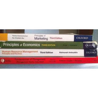 Principle Of Marketing, Principle Of Economics, Human Resources Management, Fundamental Of Management