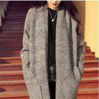 [PO62]Women Knitwear Winter Long Coat Long Cardigan
