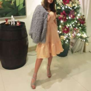 Beige Silk Dress