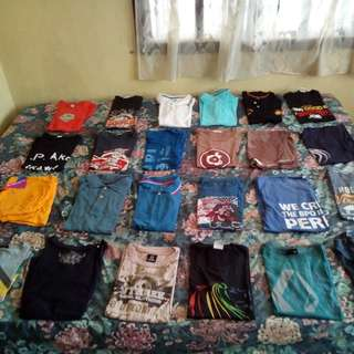 Assorted t-shirt and Polo