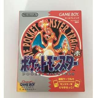 Pocket Monsters Red - Game Boy (RARE JAPANESE VINTAGE)