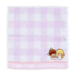 Japan Sanrio Little Twin Stars Petit Small Towel Handkerchief (Check)