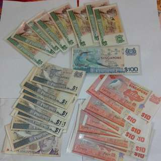 CNY BUNDLE lot $288 Set Singapore Bird Series Notes,  Prosperity Set