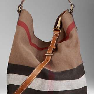 99% New and Real Burberry Canvas Duffle Tote