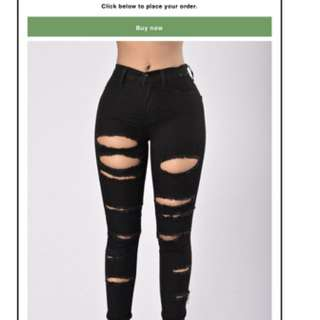 Fashion nova slash and burn jeans brand new size 13