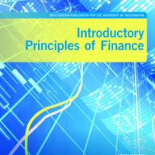 Introductory principles of finance textbook 2014 edition