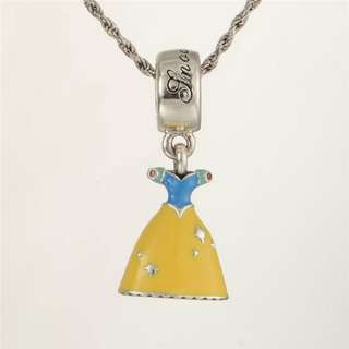 Code SS172 - Disney Snow White Princess Dress 100% 925 Sterling Silver Charm, Chain Is Not Included, Compatible With Pandora