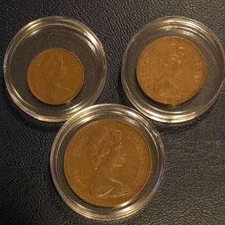 相同年份1971年大英帝國銅幣,罕有年份。