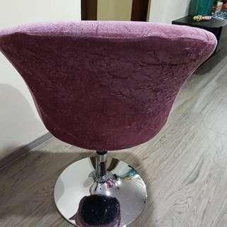 Pink velvet dining stool
