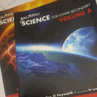 Lower secondary Science textbook (all about)