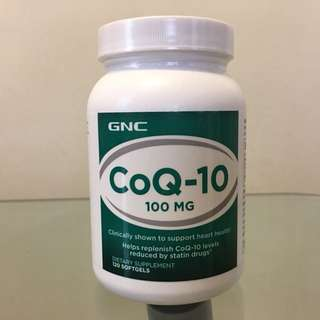 📍綠色款是💥NATURAL CoQ10💥 ☆抗氧化☆心臟健康☆ GNC (CoQ-10) 天然輔酶Q-10 100mg 120粒