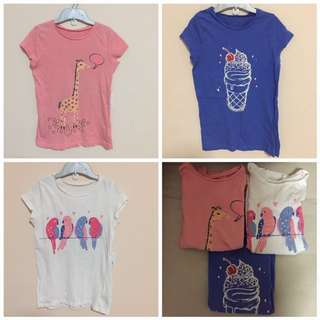 3 For $7.50 - Mothercare girls tee size 9 years (cutting small suit 6-7 years)