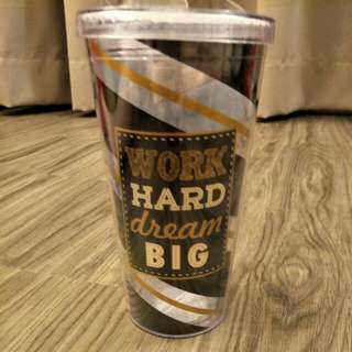 BN Burton - Work Hard Dream Big Cup with straw