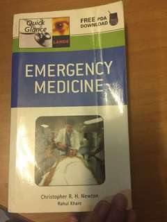 Emergency medicine book by McGraw new never read