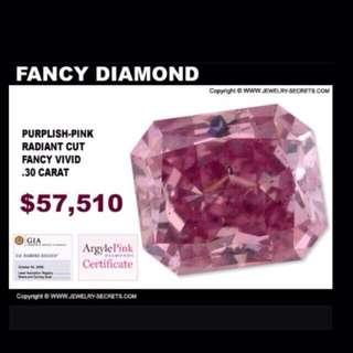 Diamond pink 0.30cts