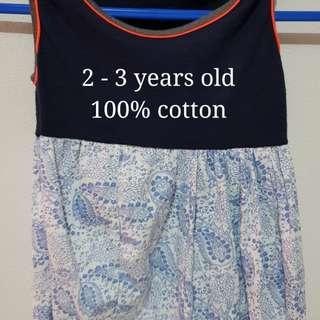 100% Cotton Kids Dress
