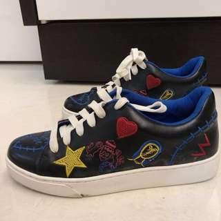 Doodle / Pattern Black Sneakers (Korean Brand)