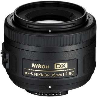 NIKON 35MM 1.8F DX