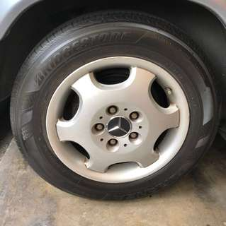 Mercedes Masterpiece W124 Rims with Tyres