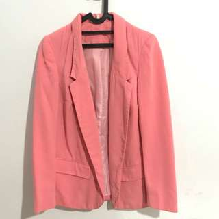 Baby pink woman blazer jacket