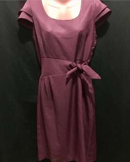 Plum Office Dress