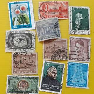 COMMEMORATIVE STAMPS OF INDIA - 11 Pieces Set