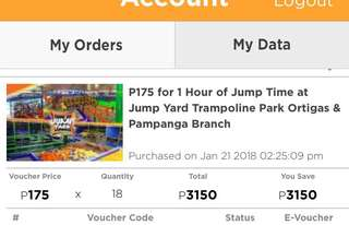 DISCOUNTED JUMPYARD E-VOUCHER