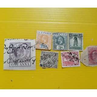 EDWARD VII + Others - Mix of 7 Stamps - British india Ceylon