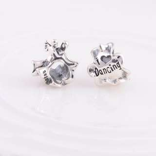 Code S97, Couple Dancing/I Love Dancing 100% 925 Sterling Silver Charm compatible With Pandora