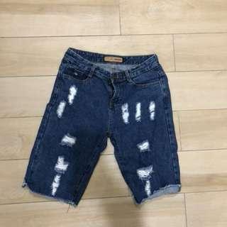 🚚 五分牛仔褲