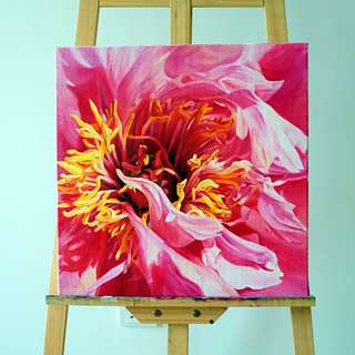 Acrylic painting on Canvas flower 1