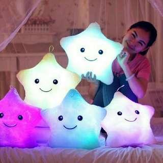 Boneka Bantal Bentuk Bintang LED