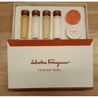 Salvatore Ferragamo Shampoo, conditioner, gel and soap set