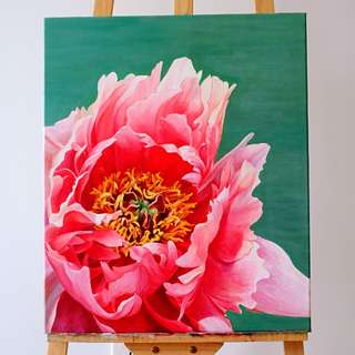 Acrylic painting on Canvas flower 2