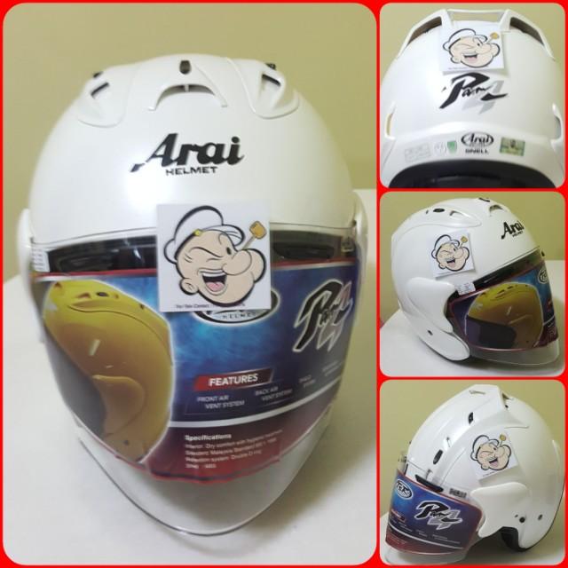 c0833d14 2102♡♡TSR RAM4 White color Helmet CONVERT TO ARAI 🦀 For SALE ...