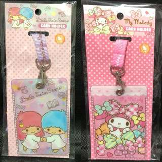 Last PCS each My Melody Little Twin Stars Card Holder with lanyard