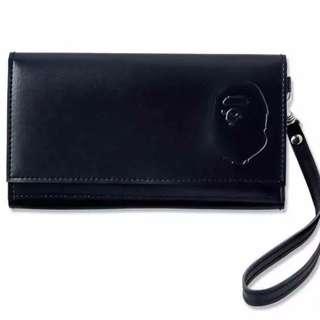 A BATHING APE 品牌MOOK  CAMO 猿人圖案皮革小物包 卡片袋