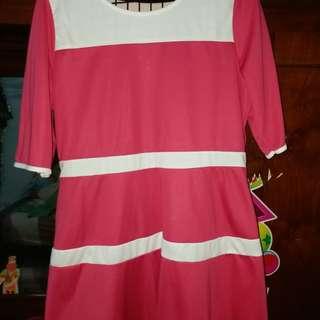 Pink peplum top xl