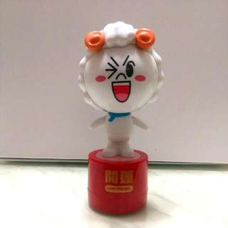 7-11羊年特別版(饅頭人)滾輪印章