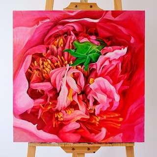 Acrylic Canvas Painting flower 4
