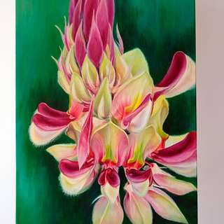 Acrylic Canvas painting fower 5