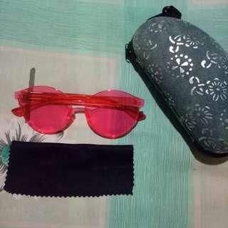 Kacamata Fashion (Warna Rose)