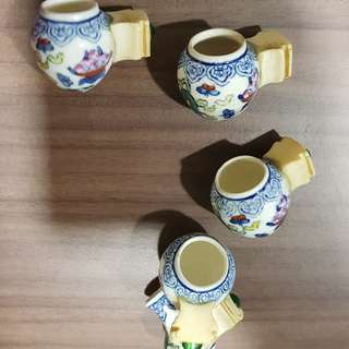 Mata Puteh Cups with ivory holders