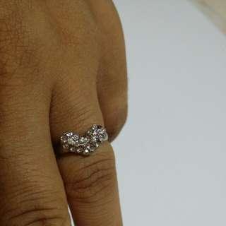 Love Shaped Diamond Ring
