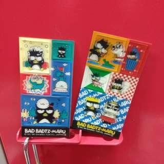 绝版稀有Sanrio 1996年(2張)XO立體貼纸