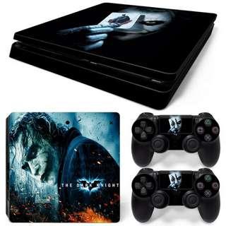Joker The Dark Knight Skin Vinyl Decal Cover Sticker Adhesive for Sony PlayStation 4 Slim