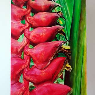 Acrylic Canvas Painting flower 7