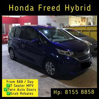 Honda Freed Hybrid - Grab Car Rentals